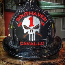 custom fire dept helmet shields