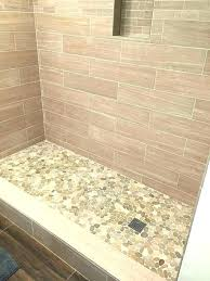 tile shower floor drain professionally install amazing pebble floors for tiled showers how to with square how to tile a shower floor