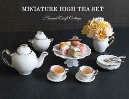 Teacup Display Stand 100100 Scale Dollhouse Miniature Food Porcelain Tea Set Teacup 54