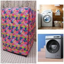 Áo trùm, vỏ bọc máy giặt cửa ngang bằng vải dù xịn siêu biền - mẫu hoa cỏ  mùa xuân chính hãng 175,000đ