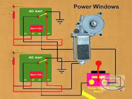 how to wire a power window relay youtube power window wiring diagram chevy at S10 Power Window Wiring Diagram