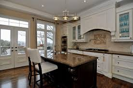 White Kitchens With Dark Wood Floors Kitchen Adorable Antique White Kitchen Cabinets Installed At
