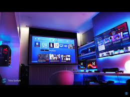 game room lighting ideas. Gaming Man Cave. Room Setup Ideas Triathlon Training Battlestation Bestgamesetupscom Home Decor How To Game Lighting O
