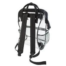 Capri Designs Backpack Hinge Top Clear Backpack Black