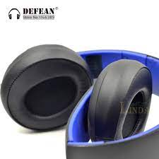 Thay Thế Đen Đệm Tai Miếng Lót Cho SONY Vàng Không Dây Âm Thanh Stereo PS3  PS4 7.1 L R Tai Nghe Tai Nghe Một Phần|ear pads|ear pad  replacementreplacement ear pads -