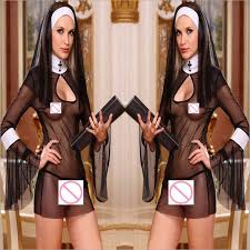 <b>Women Sexy Lingerie Hot</b> Costume Cosplay Nuns Uniform ...