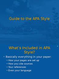 Apa Styleppt Citation Apa Style