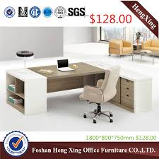 big office desk. big size luxury wooden executive office desk with side table hxet14039