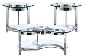 furniture curvy chrome glass end table at gardner white adorable black tables canada legs finish