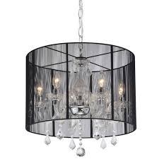 emma black shade and iron base crystal chandelier free lighting ideas