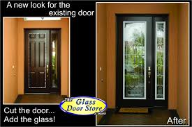 single front doorsA tall single front door gets the WOW factor added  The Glass