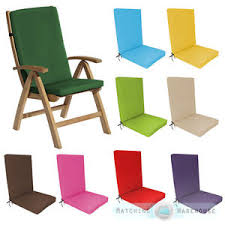 image is loading highback garden dining chair cushion pad outdoor furniture
