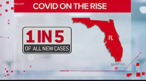Florida COVID cases nearly double over ...