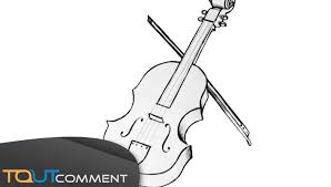 Draw A Violin Dessiner Un Violon Facilement Youtube