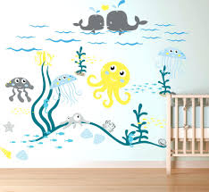 child wall decals wall decals for nursery ocean life theme vinyl art  removable item baby nursery