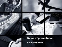 photo collage template powerpoint business activity collage powerpoint template backgrounds 10047