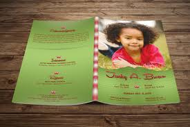 Child Funeral Program Template Child Funeral Program Template Photoshop On Behance 3