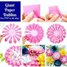 Dahlia Flower Making With Paper Giant Paper Dahlia Flowers Diy Paper Flower Tutorial Abbi