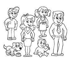 Những mẫu tranh tô màu gia đình hạnh phúc đẹp nhất dành cho bé - GUU.vn