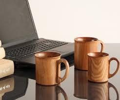 enju mug l acacia wood tableware for polyurethane painted gifts and gifts