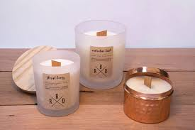 large wood wick soy wax candles