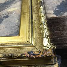 rich and davis water gilt repairs on antique frame restoration