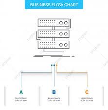 Chart Database Server Storage Rack Database Data Business Flow Chart Design