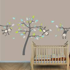 gray jungle nursery wall decals with vine wall decals for kids