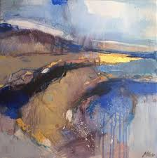 magdalena morey serenity i abstract landscape painting painting for at 1stdibs