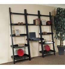 ... Interesting Ladder Desk Ikea Walmart Desks Black Book Shelves With  Books And Decorations: ...