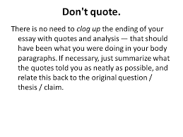 how to conclude an informative explanatory essay ppt 8 don t