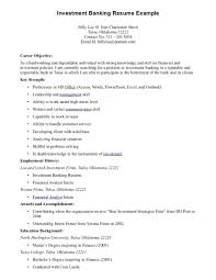 Security Resume Objective Examples Good Resume Objectives Examples Best Career Objective For Investment
