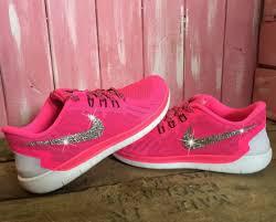 nike shoes for girls pink. swarovski nike trainers 2015 blinged girls\u0027 women free 5.0 running shoes pink wht ( for girls