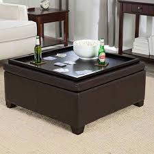 the best round coffee table trays coaster storage ottoman with tray top espresso brown leather pertaini uk ikea black large over velvet extra square tufted