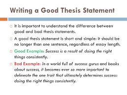 writing a thesis statement ppt writing a good thesis statement