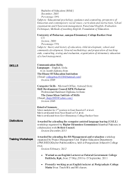 Attractive Ba English Resume Format Vignette Example Resume And