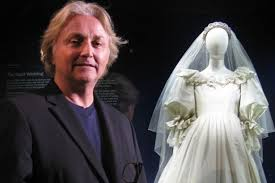 princess diana's wedding dress to be returned to sons william and Welsh Wedding Dress Designers david emanuel with the dress he designed for princess diana swansea wedding dress designers