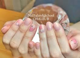 桜ネイル ネイルシール オフィスネイル シンプルネイル ピンク グラデ