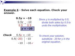 example 6 solve each equation check your answer