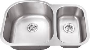 m 308 18 gauge euro style double bowl undermount stainless steel kitchen sink 70 30