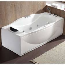 Jetted freestanding tubs Atlantis Acrylic Flatbottom Whirlpool Bathtub In White Home Depot Jettedwhirlpool Freestanding Bathtubs Bathtubs The Home Depot