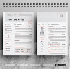 2 Page Resume Template Creative Resume Template For Word 1 2 Page Cv