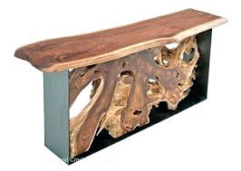 handmade modern wood furniture. Slab Wood Furniture Handmade Modern Root Console Table With Live Edge Top Natural