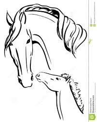 Kleurplaten Van Paarden Met Veulen Regarding Kleurplaat Paard Met