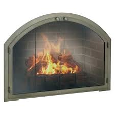 glass front fireplace arched replace glass door fireplace