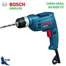 Máy khoan điện cầm tay Bosch GBM 6 RE Công suất 350W Bảo hành điện tử 6  tháng Xuất xứ Malaysia - Chuyên dùng cho thợ thạch cao