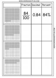 Convert between percents, fractions and decimals – 8 Worksheets ...decimal percent fraction