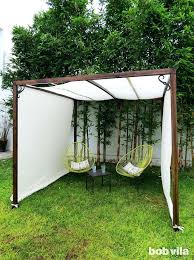 diy shade structures wood build cloth