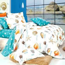 bedding sets beach uk turquoise white and orange seas print beach themed tropical hawaiian style sea life 100 cotton damask