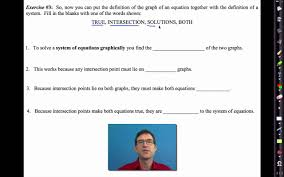common core algebra i unit 5 lesson 1 solutions to linear systems and solving by graphing